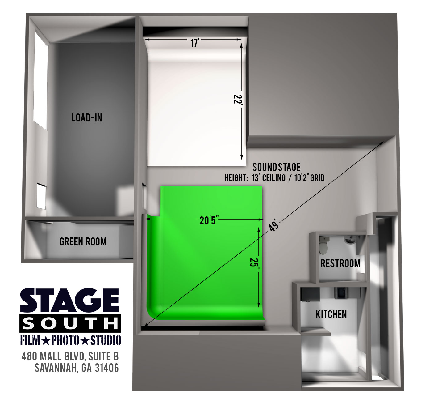 Stage South Studio Layout